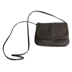 Vintage Argentinian Woven Leather Crossbody EUC